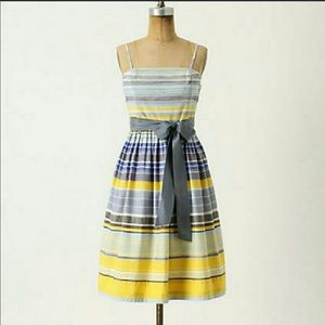 Anthropologie Maeve Paraiso Strapless Stripe Dress